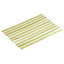 10 x agitateur en bois - 140 x 5 x 1mm