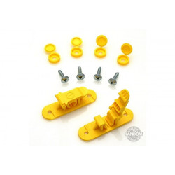 Random Heli Attache rapide de transport/Skid Clamp Assembly 8.0mm Yellow (STC8000-Y)