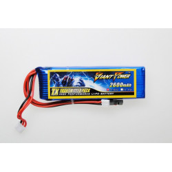 Giant Power battery LIPO 2600mAh 7.4V TX (17x31x100mm) (GN-LP2S2600-TX)