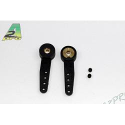Bras de commande nylon bague laiton 3mm (2 pcs) (4557)