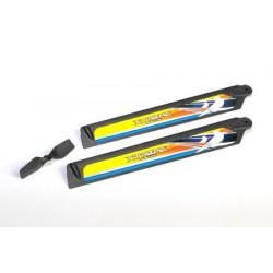 Trex 150 - set de pales Carbon Fiber Polymer Main and Tail Blade (1 set Blue)