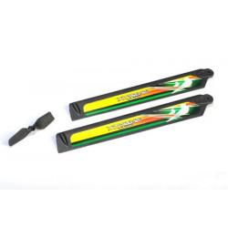 Trex 150 - set de pales Carbon Fiber Polymer Main and Tail Blade (1 set Green)