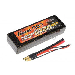 Gens ace 5300mAh 7.4V 65C 2S1P HardCase Lipo Battery 10 (EFRA approved) (B-65C-5300-2S1P-HardCase-10)