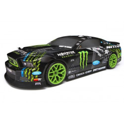 E10 Drift Vaughn Gittin Jr. Monster Energy Nitto Tire Ford Mustang RTR Black (HPI 111664)