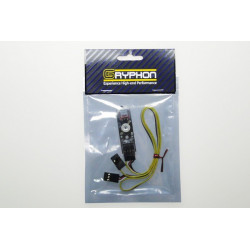 Gryphon Indicateur Tension Basse Switch Hi Power Flux LED Board + Interrupteur fail safe (GSB-1030S)