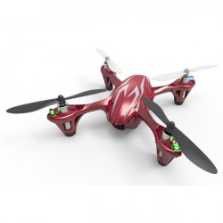 HUBSAN H107CHD X4 MINI QUAD LED AVEC CAMERA HD 720P (2,4GHz Rouge Mode 2)