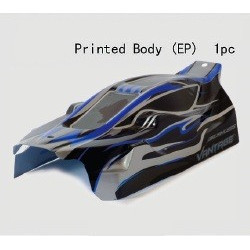 FTX VANTAGE PRINTED EP BUGGY BODY - BLACK (BRUSHLESS) (FTX6282)