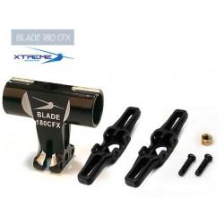 180CFX Tête de Rotor CNC Alu. Rotor Head (Black)