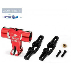 180CFX Tête de Rotor CNC Alu. Rotor Head (Red)