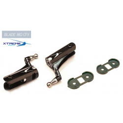 180CFX Support de Pale CNC Alu. Main Blade Grip (Black)