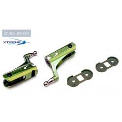 180CFX Support de Pale CNC Alu. Main Blade Grip (Green)