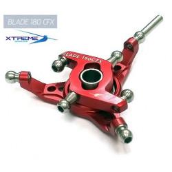 180CFX Plateau Cyclique CNC Aluminium Swashplate (Red)