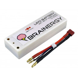 Batterie LiPo 2s1p 7,4V 6.600mAh 30C BRAINERGY contact PK 4,0mm HC (801001)