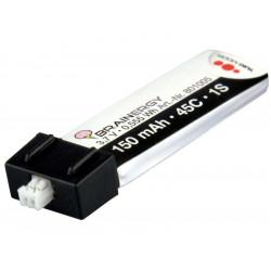 Batterie LiPo 1s1p 3,7V 150mAh 45C BRAINERGY compatible avec JST EH 1S (801005)