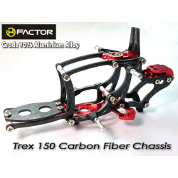 Heli Factor Trex 150 Carbon and 7075 Alloy Chassis - Red