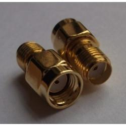 SMA jack to RP-SMA plug adapter