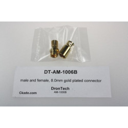 male and female, 8.0mm gold plated connector
