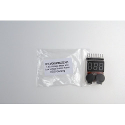 1-8S Voltage Meter and Low voltage buzzer Alarm