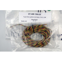 Twist Wire (yellow red black, PVC) 22