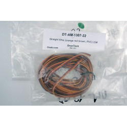 Straight Wire (orange red brown, PVC) 22