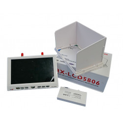 5.8G 32CH Diversity receiver HD monitor with DVR