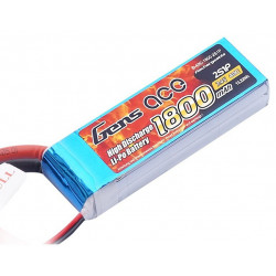 Gens ace 1800mAh 7.4V 40C 2S1P Lipo Battery Pack (B-40C-1800-2S1P)