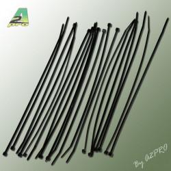 Collier nylon noir 2.5x200mm (100 pcs) (16521-1)