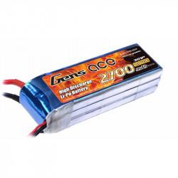 Gens ace 2700mAh 11.1V 25C 3S1P Lipo Batterie Pack with XT60 Plug DJI Phantom (B-25C-2700-3S1P)