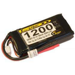 LIPO 7,4V 1200MAH 2S 25C SPORT (SAF08107)