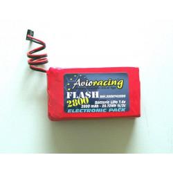 Batterie LiPo TX 7.4V 2800mAh pour Futaba 4GRS/4PKS/4PX/4PLS/8J/10J/14SG