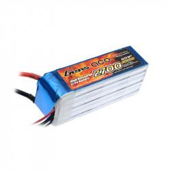 Gens ace 2700mAh 22.2V 35C 6S1P Lipo Battery Pack (B-35C-2700-6S1P)