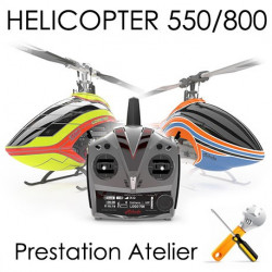 Class 550-800 Montage, Réglages et Test Hélicoptère