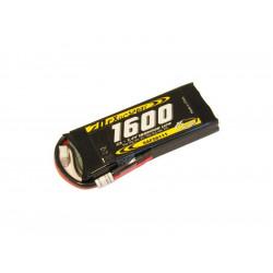 Batterie LiPo Xell Sport 2S 7.4V - 1600mAh 25C - prise Deans (SAF08111)