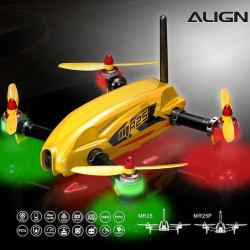 Align MR25 Racing Quad Combo avec Batterie Lipo- Yellow (RM42501XET)