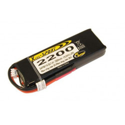 Batterie LiPo Xell Sport 2S 7.4V - 2200mAh 25C - prise Deans (SAF08115)
