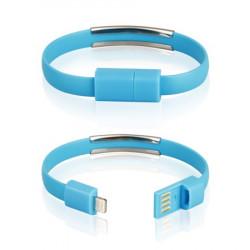 CABLE USB iPh.6/6s/5/5s BRACELET blue