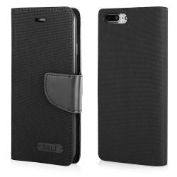 """CASE """"FANCY"""" CANVAS iPhone 7 Plus black"""