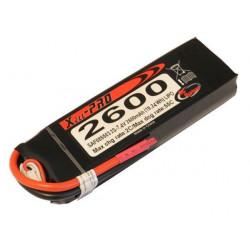 Batterie LiPo Xell PRO 2S 7.4V - 2600mAh 55C - sans connecteur (SAF085503)