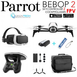 Pack FPV Bebop 2 Drone + Cockpitglasses + Skycontroller V2+ Sac de transport + Power Bank