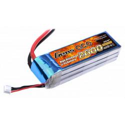 Gens ace 2600mAh 11.1V 25C 3S1P Lipo Battery Pack (B-25C-2600-3S1P)