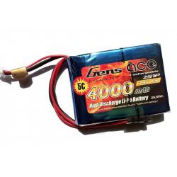 Gens ace 4000mAh 7.4V RX 2S1P Lipo Battery pack (B-RX-4000-2S1P)