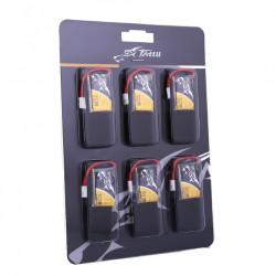 TATTU 350mAh 3.7V 30C 1S1P Lipo Battery Pack with Molex Plug (6 pcs/pack) (TA-30C-350-1S1P-Molex-6)
