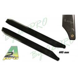 A2PRO Pales carbone 445mm pour classe 500 (809445)