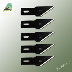 Lame droite courte pour couteau scalpel 11 (5 pcs) (95075)