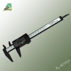 Pied a coulisse digital plastique 0-150mm (97040)