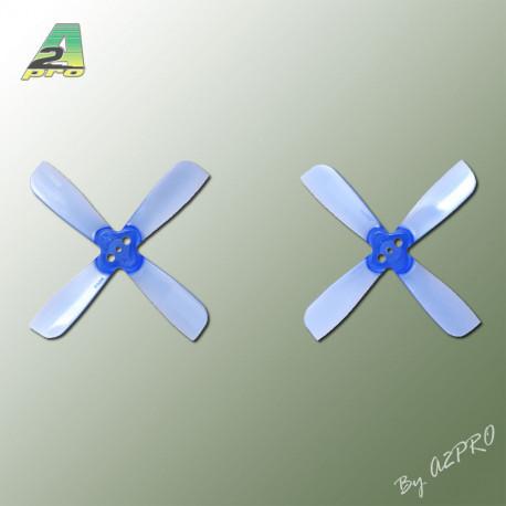 Helice Gemfan Quadripale bleu polycarbonate 2x3.5 (2 paires) (QGB2035)