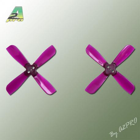 Helice Gemfan Quadripale violet polycarbonate 2x3.5 (2 paires) (QGV2035)
