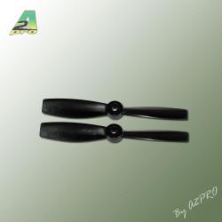 Helice Gemfan polycarbonate 4x4.5 push bullnose noir (2 pcs) (GNB4045R)