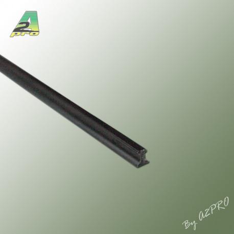 Profile styrene Rail Lg 1m x 1.50mm (246053)