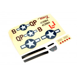Decal Sheet: Ultra-Micro P-51D Mustang with AS3X (PKZU2402)